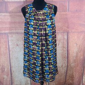 Anna Sui  metallic print shift dress